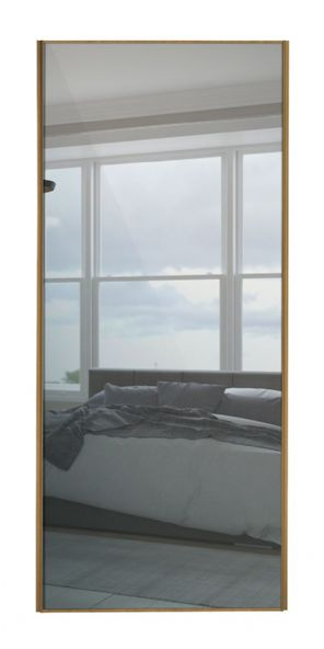 Heritage Oak frame, Mirror door
